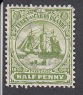 Turks And Caicos  1900  1/2d   MNH   SG 101 - Turks And Caicos
