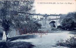 """AIN (01) - Neuville Sur Ain - Le Pont """" La Plage """" - Excellent état - Autres Communes"""