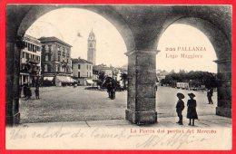 [DC6147] LAGO MAGGIORE - PALLANZA - LA PIAZZA DEI PORTICI DEL MERCATO - Viaggiata - Old Postcard - Verbania