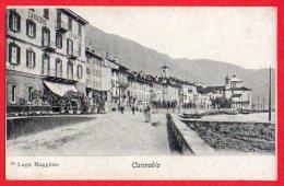 [DC6148] LAGO MAGGIORE - CANNOBIO - LUNGOLAGO - Old Postcard - Verbania