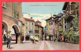 [DC6153] DOMODOSSOLA - PIAZZA DEL MERCATO - Old Postcard - Verbania