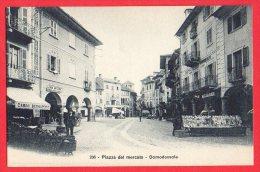 [DC6156] DOMODOSSOLA - PIAZZA DEL MERCATO - Old Postcard - Verbania