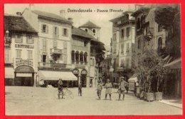 [DC6157] DOMODOSSOLA - PIAZZA DEL MERCATO - Old Postcard - Verbania