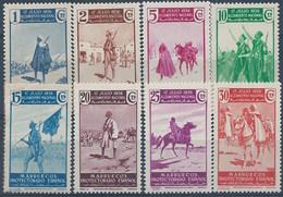 MA169-L4188TARM. Maroc.Marocco.MARRUECOS ESPAÑOL ALZAMIENTO NACIONAL 1937 (Ed 169/76**) Sin/con  Charnela. - Mezquitas Y Sinagogas