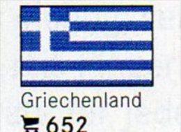 6 Coins + Flaggen-Sticker In Farbe Griechenland 4€ Kennzeichnung An Alben Karten Sammlungen LINDNER #652 Flags Of GREECE - Grèce