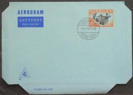 Denmark AEROGRAM Nr.43   9-4-1979 FDC  ( Lot 211 ) - Postwaardestukken