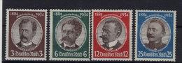 Deutsches Reich Michel No. 540 - 543 ** postfrisch