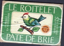 ETIQUETTE DE FROMAGE SUR SON SUPPORT EN BOIS - LE ROITELET - Fromage