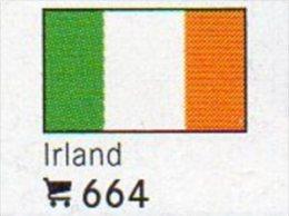 6 Coins+ Flaggen-Sticker In Farbe Irland 4€ Zur Kennzeichnung Von Alben Karten Und Sammlungen LINDNER #664 Flags Of EIRE - Irlande