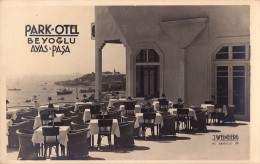 CONSTANTINOPLE / ISTANBUL : PARK OTEL BEYOGLU / AYAS PASA - CARTE VRAIE PHOTO / REAL PHOTO - ANNÉE / YEAR ~ 1930 (p-588) - Turquia