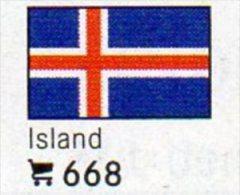 6 Coins + Flaggen-Sticker In Farbe Island 4€ Zur Kennzeichnung Von Alben Karten/Sammlungen LINDNER #668 Flags Of Isle EU - Islande