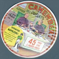 ETIQUETTE DE FROMAGE SUR SON SUPPORT EN BOIS - LES PRELATS - OPERATION NAPOLEON - Fromage
