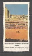ESPAÑA Spain 1968 TOROS Plaza En Un Pueblo Ministerio Información Y Turismo Vignette Viñeta Poster Stamp - Koeien