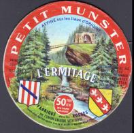 ETIQUETTE DE FROMAGE - PETIT MUNSTER - ECUSSON HERALDIQUE - VOSGES BULGNEVILLE - Fromage