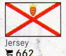 6 Coins+Flaggen-Sticker In Farbe Jersey UK 4€ Zur Kennzeichnung An Alben Karten/Sammlungen LINDNER #662 Flags Isle Of GB - Jersey