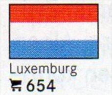 6 Coins+Flaggen-Sticker In Farbe Luxemburg 4€ Kennzeichnung Von Alben Karten/Sammlungen LINDNER #654 Flags Of Luxembourg - Luxembourg