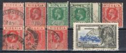 Lote  9 Sellos NIGERIA (colonia Gran Bretaña) º - Nigeria (...-1960)