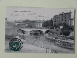 Lodeve Le Pont De La Lergue Cachet Lodeve A Beziers 1912 - Lodeve