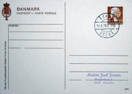 Denmark   Nr.216   Århus - Greneå18-4-1979   Lot 1061) - Enteros Postales