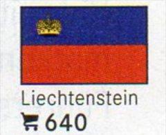 6 Coins+Flaggen-Sticker In Farbe Liechtenstein 4€ Kennzeichnung An Alben Karten/Sammlung LINDNER #640 Flag Of Fürstentum - Liechtenstein