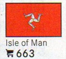 6 Coins+Flaggen-Sticker In Farbe Isle Of Man UK 4€ Kennzeichnung An Alben Karten/Sammlung LINDNER #663 Flag Island Of GB - Monnaies Régionales