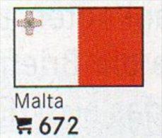 6 Coins+ Flaggen-Sticker In Farbe Malta 4€ Zur Kennzeichnung Von Alben Karten/ Sammlungen LINDNER #672 Flags Of Republik - Malte