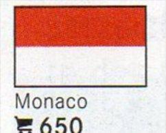 6 Coins+Flaggen-Sticker In Farbe Monaco 4€ Zur Kennzeichnung An Alben Karten/Sammlungen LINDNER #650 Flags Of Fürstentum - Monaco