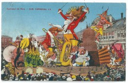 Cpa: 06 NICE Carnaval, S.M. Carnaval  LV  (Char De La Musique)  1933 - Carnival