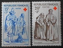 FRANCE 1957 - CROIX ROUGE Du N° 1140 Et 1141  - 2 Timbres NEUFS** Y&T 11,50€ - France