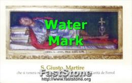 La Coruna, Spagna - Santino SAN GIUSTO MARTIRE - PERFETTO G32 - Religion &  Esoterik