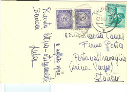 SALZBURG-CARD ITALIEN, 1950 IN ITALIEN BESTEUERTE Mit Porto 5 +5 - 1945-.... 2a Repubblica