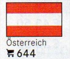 6 Coins+Flaggen-Sticker In Farbe Österreich 4€ Zur Kennzeichnung Von Alben Karten/Sammlung LINDNER #644 Flags Of Austria - Autriche