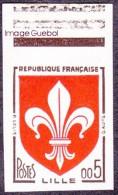France Non Dentelé N° 1230 **  Armoiries - Blason - Lille - Valeur En Nouveaux Francs ( Haut De Feuille ) - Imperforates