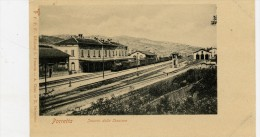 Porretta (Bologna). Interno Della Stazione Ferroviaria. Treno In Transito. - Bologna