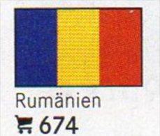 6 Coins+Flaggen-Sticker In Farbe Rumänien 4€ Zur Kennzeichnung Von Alben Karten/Sammlungen LINDNER #674 Flags Of Romania - Roumanie