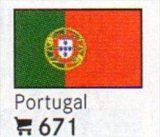 6 Coins+Flaggen-Sticker In Farbe Portugal 4€ Zur Kennzeichnung Von Alben Karten/Sammlung LINDNER #671 Flags Of Portugues - Portugal