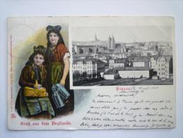 PLAUEN  I. V.  :  Gruss Aus Dem  VOGTLANDE   -  Carte Couleur  1909 - Plauen