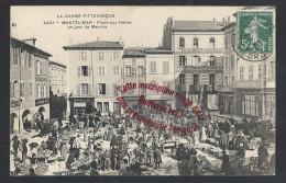K517 - MONTELIMAR Place Aux Halles Un Jour De Marché  - (26 - Drome) - Montelimar