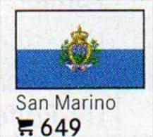 6 Coins+Flaggen-Sticker In Farbe San Marino 4€ Zur Kennzeichnung An Alben Karten/Sammlung LINDNER #649 Flags Of Republik - Saint-Marin