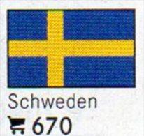 6 Coins+Flaggen-Sticker In Farbe Schweden 4€ Zur Kennzeichnung Von Alben Karten/Sammlungen LINDNER #670 Flags Of SVERIGE - Suède