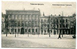 Helsingfors, Alexander Gymnasium - Old Postcard, Ca. 1910 - Finland