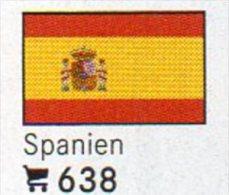 6 Coins + Flaggen-Sticker In Farbe Spanien 4€ Zur Kennzeichnung Von Alben Karten/Sammlungen LINDNER #638 Flags Of ESPANA - Espagne