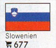 6 Coins+Flaggen-Sticker In Farbe Slowenien 4€ Zur Kennzeichnung An Alben Karten/Sammlung LINDNER #677 Flags Of SLOWENIJA - Slovénie