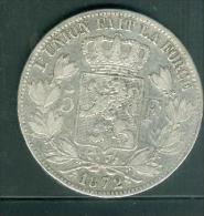 LEOPOLD II * 5 Francs 1872 *,-  Pic2104 - 09. 5 Francs