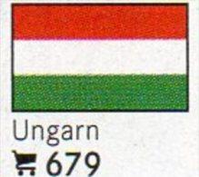 6 Coins + Flaggen-Sticker In Farbe Ungarn 4€ Zur Kennzeichnung Von Alben Karten/Sammlungen LINDNER #679 Flags Of HUNGARY - Hongrie