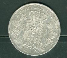 LEOPOL II ROI DES BELGES - PIECE EN ARGENT DE 5 F De 1871,  Pic2501 - 09. 5 Francs