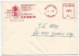 Poland Pologne, Meter Stamp 'Chemia' – Enterprise Of Chemistry Trade. Zielona Gora. 1980. - Chemistry