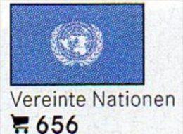 6 Coins+Flaggen-Sticker In Farbe Vereinte Nationen 4€ Kennzeichnung Von Alben Karten/Sammlungen LINDNER #656 Flag Of UNO - Autres – Amérique