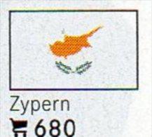 6 Coins + Flaggen-Sticker In Farbe Zypern 4€ Zur Kennzeichnung Von Alben Karten/ Sammlungen LINDNER #680 Flags Of Cyprus - Chypre