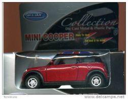 X WELLY MINI COOPER ENGLISH FLAG DOORS OPEN GO FICTION 1/32 NUOVO IN BOX - Automobili